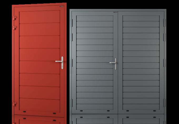Drzwi aluminiowe boczne