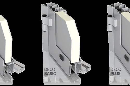 Aluminiowe drzwi zewnętrzne DECO LIGHT, BASIC, PLUS